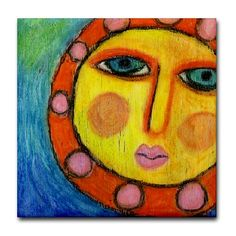 Beautiful Sun - My Abstract Oil Pastel Painting
