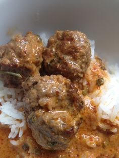 Thai Meatballs with Red Curry