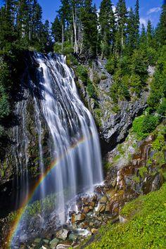 Narada Falls rainbow / Mt. Rainier National Park, Washington