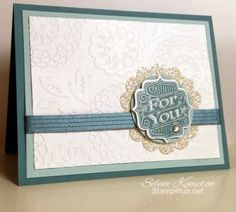 8/19 Stampin Up Tag Talk, Label Bracket Punch, Glimmer Paper.