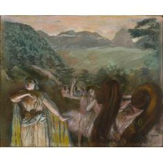 Edgar Degas, Aria after the Ballet, 1879, pastel, gouache, and monotype mounted on cardboard, Dallas Museum of Art, The Wendy and Emery Reves Collection