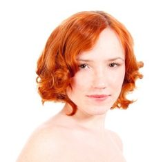 short vibrant red hair