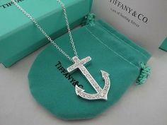 tiffany anchor necklace