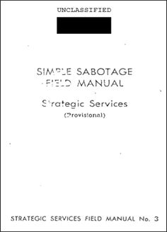 Specific Suggestions For Simple Sabotage - OSS Field Manual #3 Part 5 - Prepography | Prepography