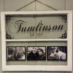 Vintage Window Two Pane Family Name by VaughnCustomCreation, $75.00. Surname. PERSONALIZED FOR YOU. Window Frames. Vinyl. Home Decor. Anniversary. Wedding Gift. Christmas Gift. Holidays. Flurishes. Established. Vintage Window. CUSTOM ORDERS