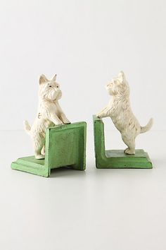 Bentley the Westie Bookends. These little guys make my books so much happier. #anthropologie #anthrofaves