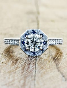 I Love how classic this looks ~ Unique Engagement Rings by Ken & Dana Design