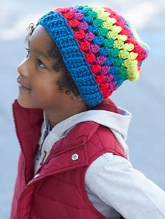Ravelry: Rainbow Granny Stripes Hat pattern by Caron Design Team