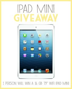iPad Mini Giveaway from Barbara Bakes