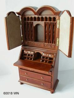 Miniature Dollhouse Secretary  - Adult Collectible - Artist Made - 1:12 $178.88