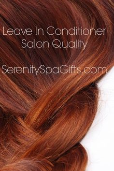 Salon Quality Leave In Conditioner For Dry Hair