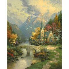 The Mountain Chapel - Thomas Kinkade