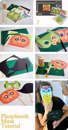 Photobooth Owl Mask Tutorial #owl #mask #DIY #craft