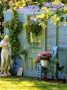 Aiken House & Gardens: Fake Garden Shed Makeover