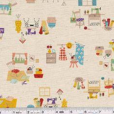 """craft time"" - japanese cotton/linen blend"