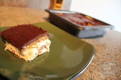 YUM! Chocolate Eclair Pudding Cake!! Super easy too! Making this tonight!