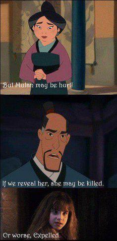 bahaha! Hermione + Mulan. Great.