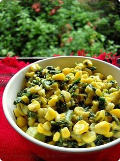 Veg Recipes of Indiacorn spinach: corn spinach recipe, italian corn spinach recipe