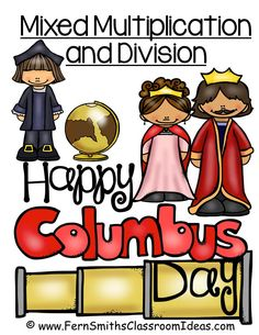 Tuesday Teacher Tips: Columbus Day Resources and FREE Columbus Day Mixed Multiplication and Division Quick and Easy Center Games a #Freebie