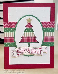 Card Creations by Beth: Washi Tape Christmas Tree