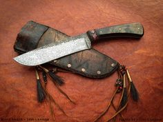 Buffalo belt knife