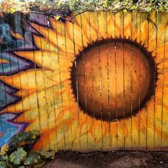 Fence mural at chocola tree