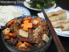 VIETNAMESE  Bun Cha Hanoi Nem Ran (Vietnamese Hanoi-Style Rice Vermicelli Noodles with Grilled Pork Patties and Egg Rolls)    Read more: http://wanderingchopsticks.blogspot.com/2008/07/bun-cha-hanoi-nem-ran-vietnamese-hanoi.html#ixzz1uZML0kHR
