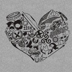A fangirl's heart.