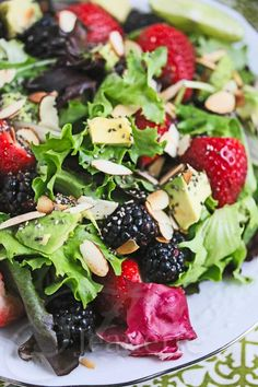 chia seed, salad recipes, avocado salad, berri salad, almond recipes, power berri