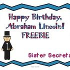 This free mini-unit is perfect to incorporate President's Day into your classroom!The mini-unit includes:-Informational Reading on Abraham Linco...