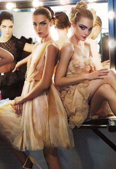 Jessica, Angela and Hilary by Karl Lagerfeld for Harper's Bazaar