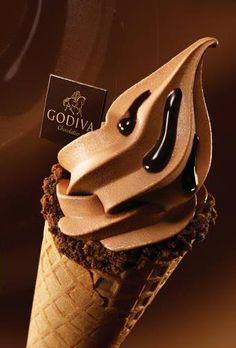 Godiva Chocolate Soft Ice Cream