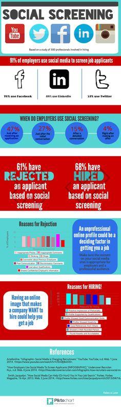 How Social Media Can Help You Get a Job - infographic by Rebecc. @film260 #queensu #digitalmedia #socialmedia