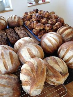 """""""Sourdough bread, fruit and nut bread and cinnamon buns at the micro-bakery."""" —Jessica Engvall ([@]JessicaEngvall). Photo pinned with her permission."""