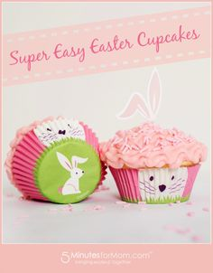 Super Easy #Easter Cupcakes. #recipe #dessert