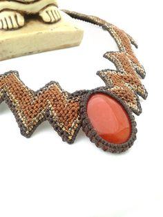 Macrame necklace https://www.etsy.com/es/listing/124279554/collar-de-macrameacute-hecha-a-mano-en