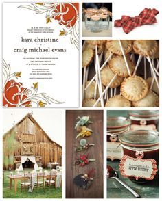 Fall Wedding Inspiration Board by papersnaps.com