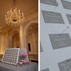 Great way to display place cards