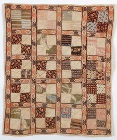 Four Patch Doll Quilt: Circa 1870; Pennsylvania