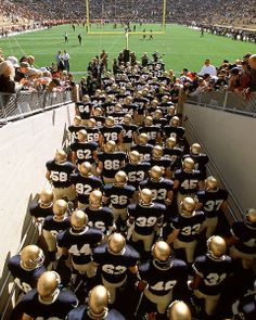 Notre Dame Football Team taking the field!!