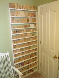 Rubber stamp storage