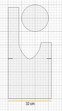 Schnittmuster für eine japanische Knotentasche