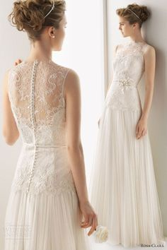 Love the sheer back on this one! #weddings #dress #weddingdress