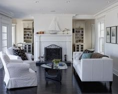 tile design, living rooms, fireplac, cape, living room ideas, black kitchens, living room designs, live room, traditional homes