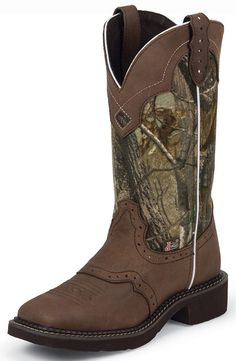 Justin Gypsy Womens Square Toe Cowboy Boots - Camo/Brown $96.97