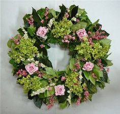 Spring Wreath Annnabell The Lush Beauty  Mixed Dried and Faux Flowers