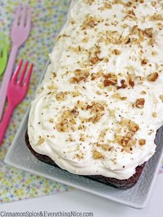 Carrot Cake Banana Bread with Cream Cheese Frosting