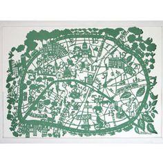paper cut, pari map, cut paper, hand cut, cut map