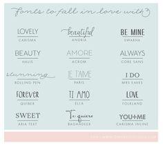 Favorite Fonts