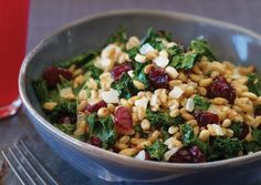 Warm Farro Pilaf with Dried Cranberries